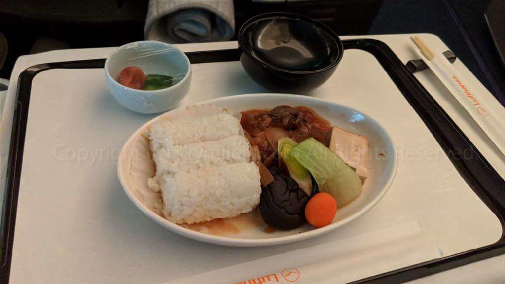 ルフトハンザ ビジネスクラス和食01