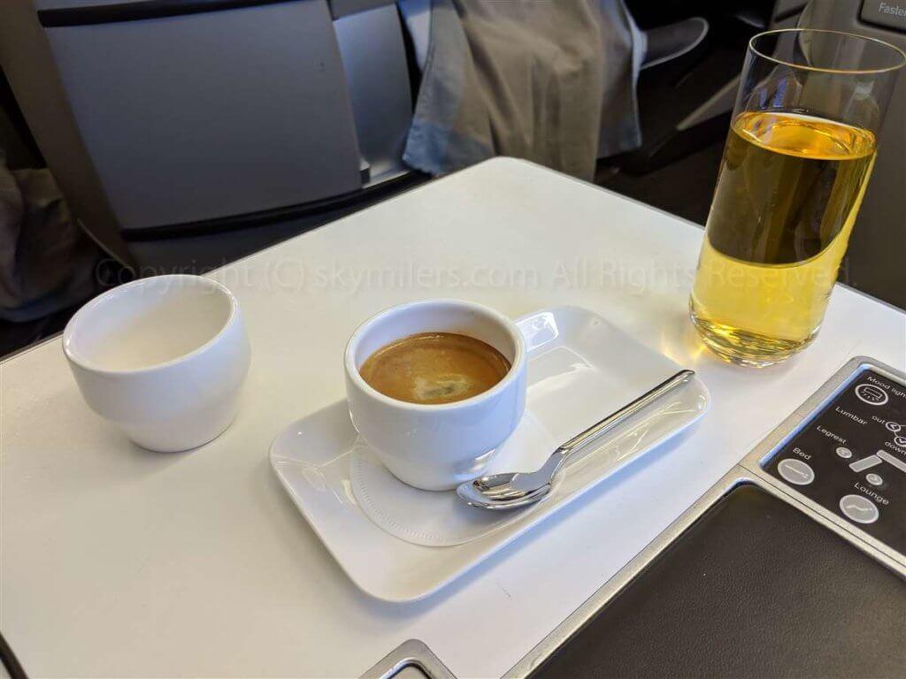 スイス航空ビジネスクラス コーヒー