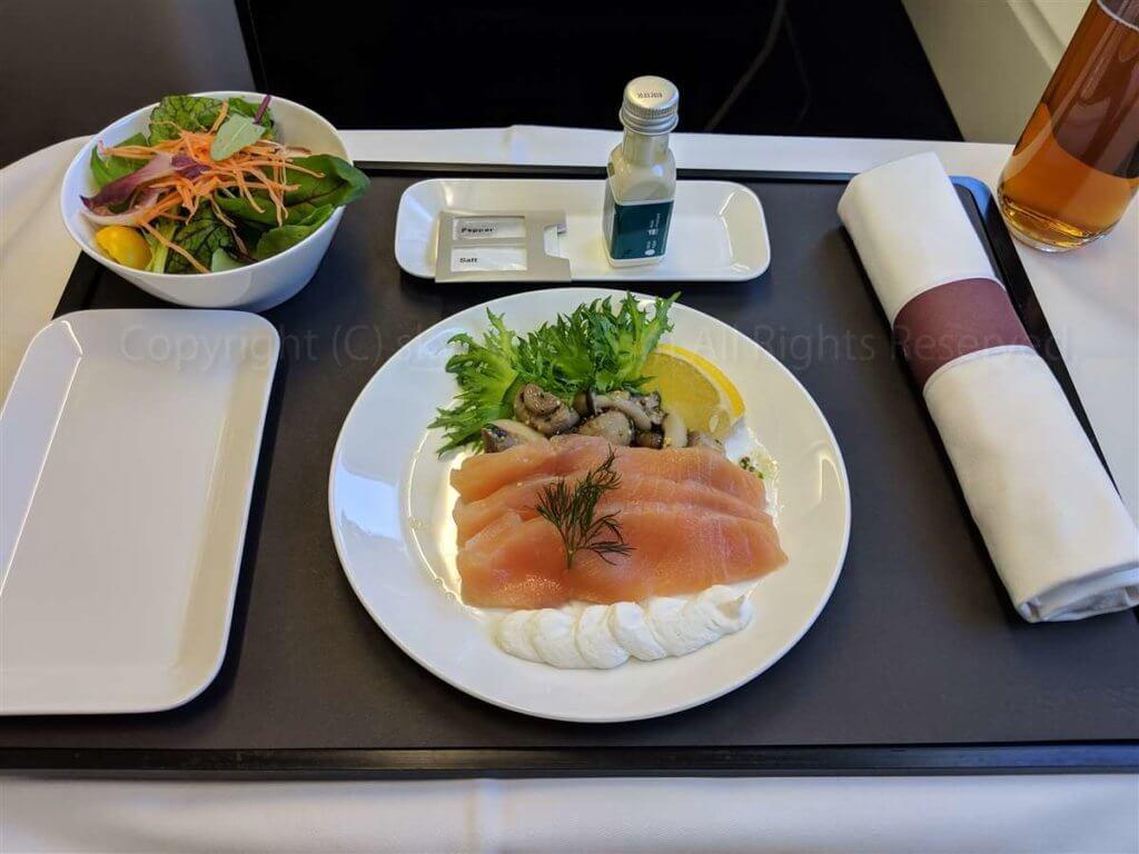 スイス航空ビジネスクラス 前菜