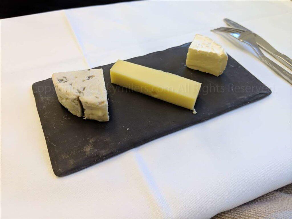 スイス航空ビジネスクラス チーズ盛り合わせ