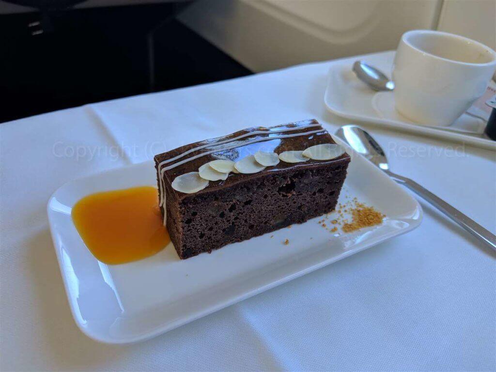 スイス航空ビジネスクラス ケーキ