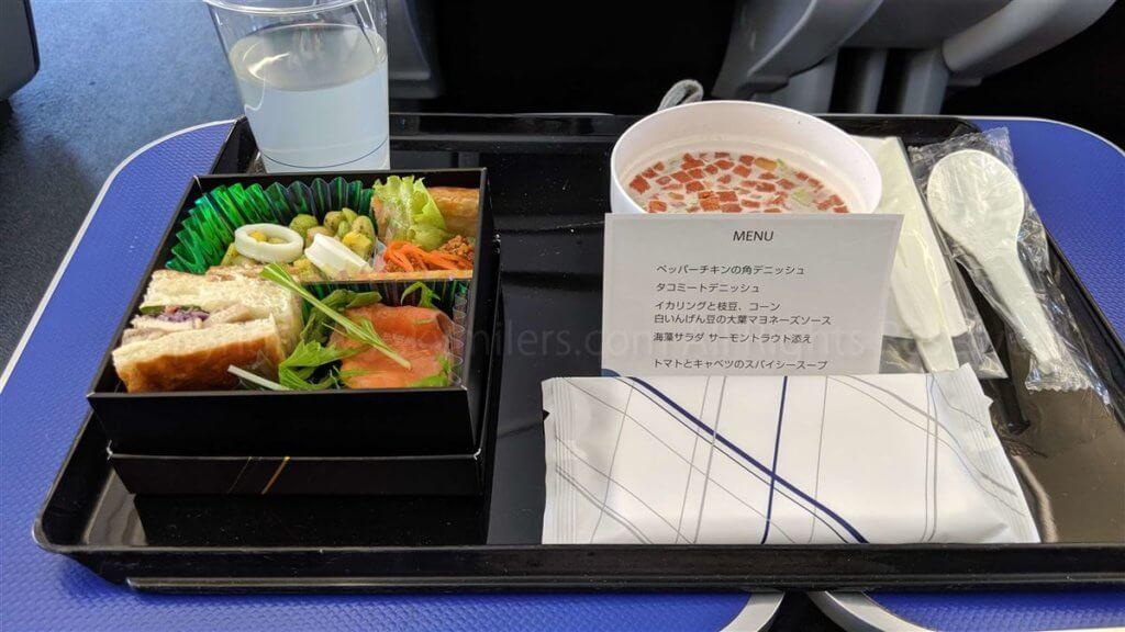 ANAプレミアムクラス食事201905-02