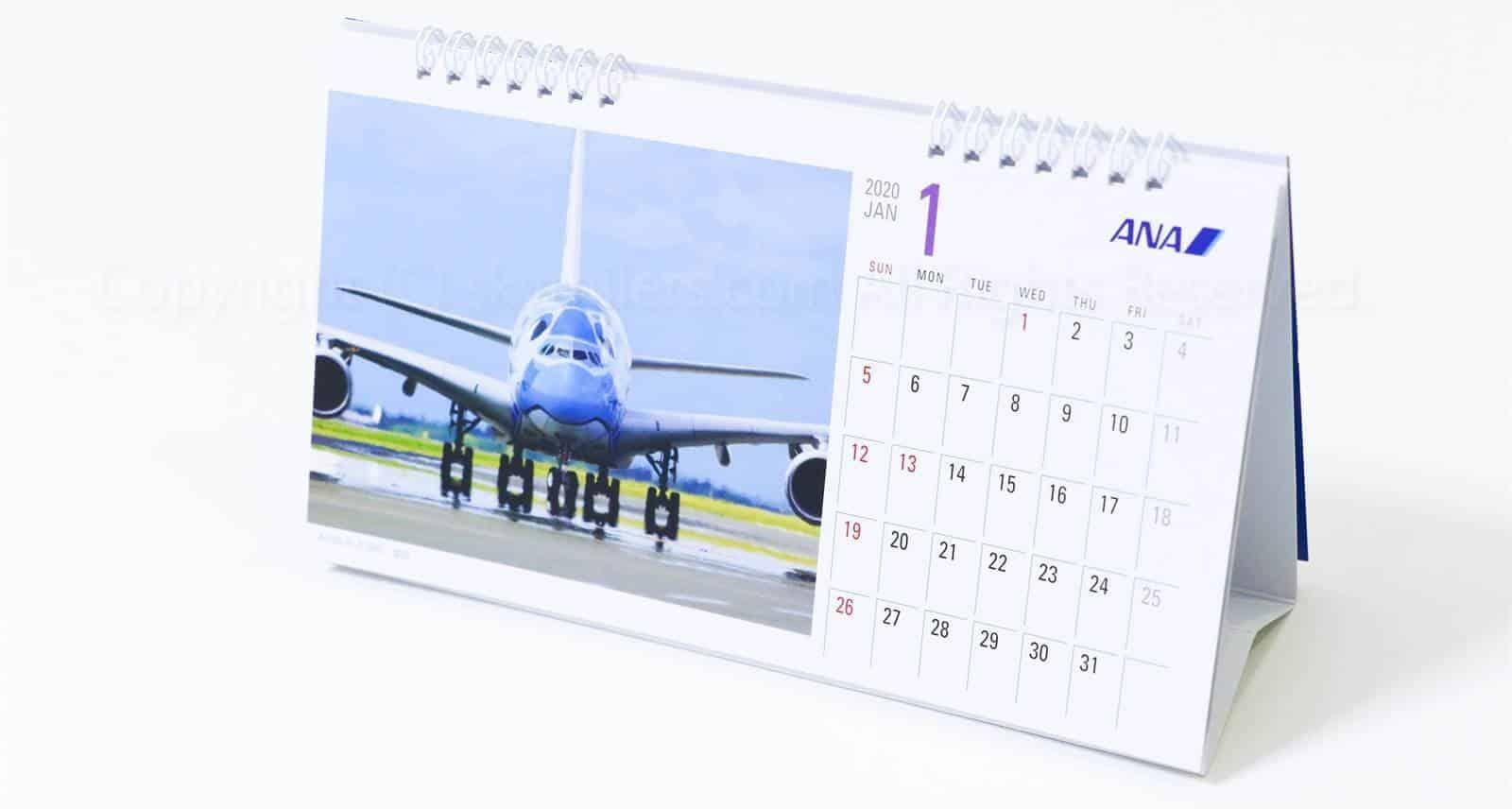 ANA SFC手帳カレンダー2020_08